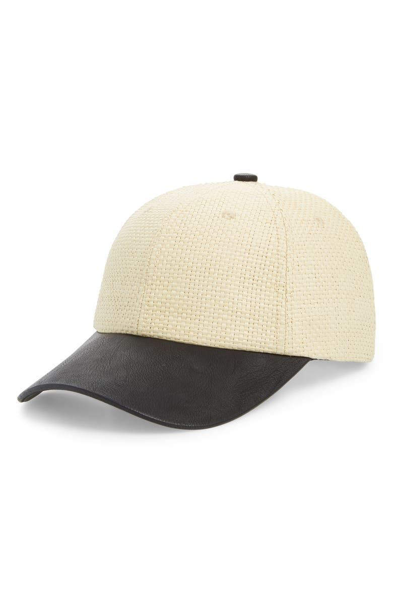 SWEAT ACTIVE Straw Baseball Cap, Main, color, STRAW