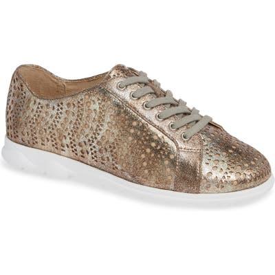 Vaneli Laren Perforated Sneaker, Metallic