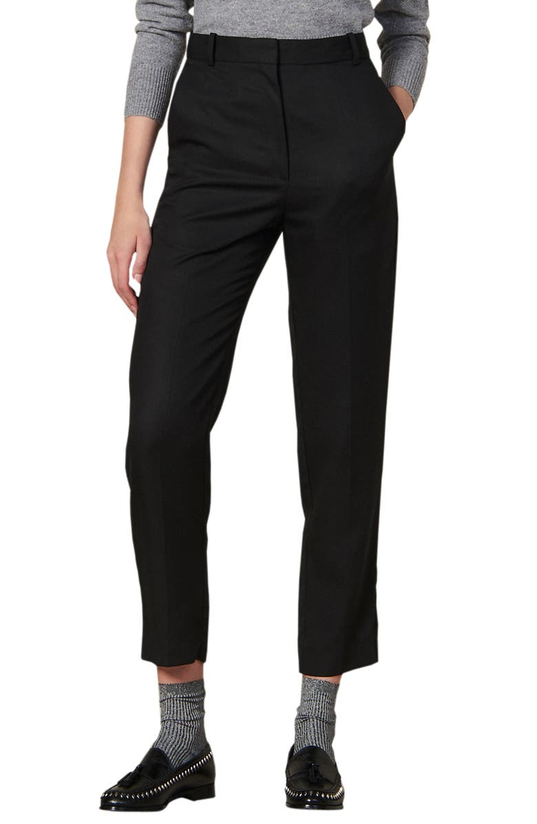 SANDRO Lassy Crop Pants, Main, color, 001