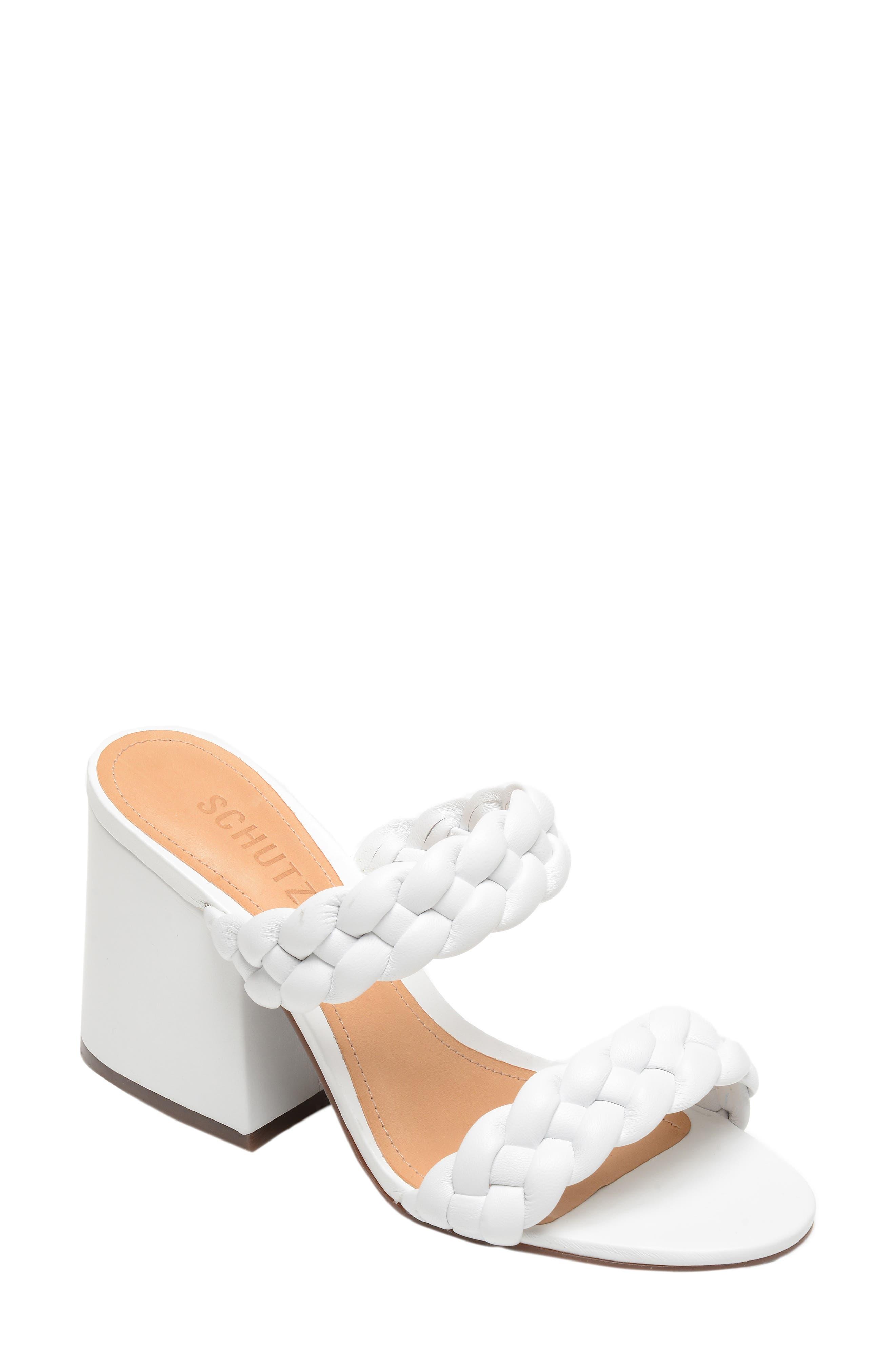 ae42539b2a10 Schutz Elida Block Heel Slide Sandal