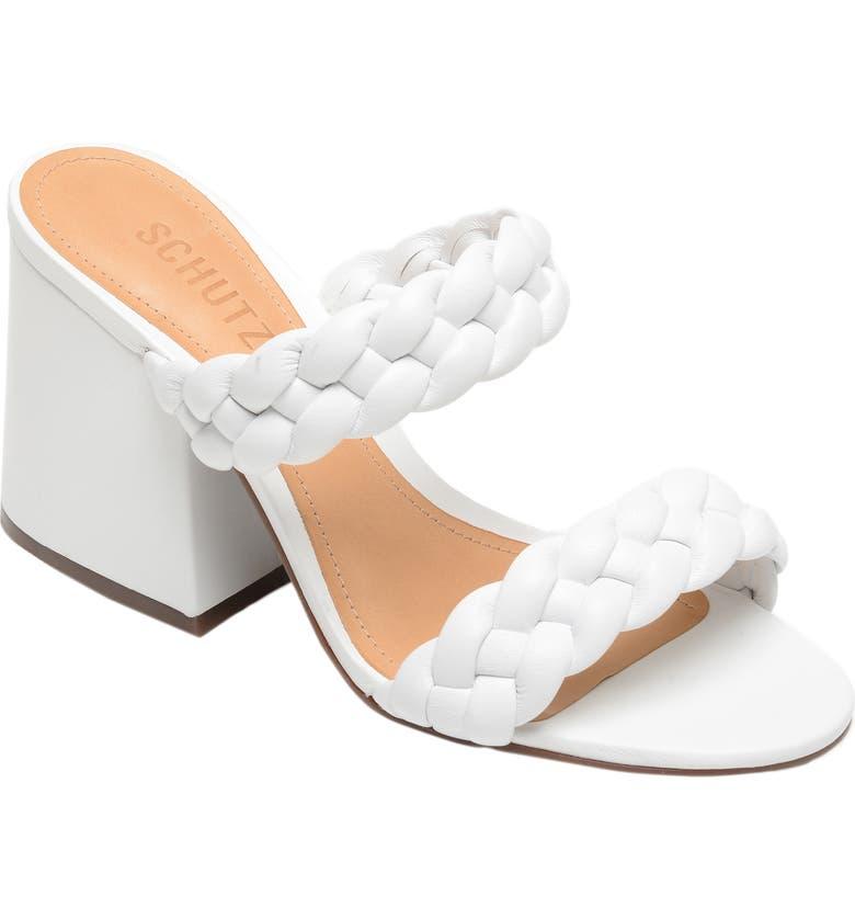 SCHUTZ Elida Block Heel Slide Sandal, Main, color, 100