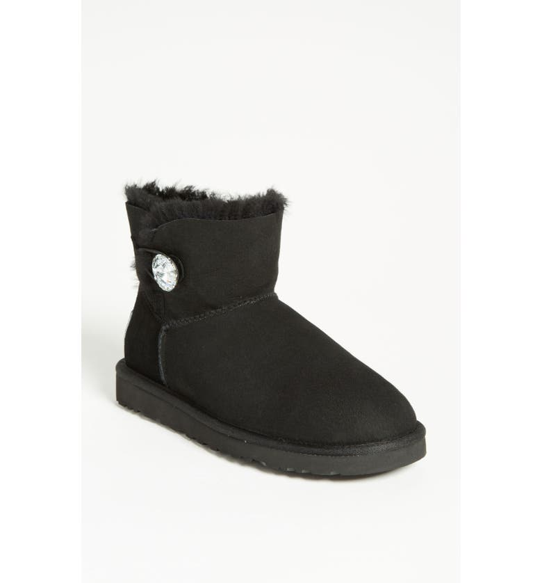 UGG<SUP>®</SUP> Mini Bailey Button Bling Boot, Main, color, 001
