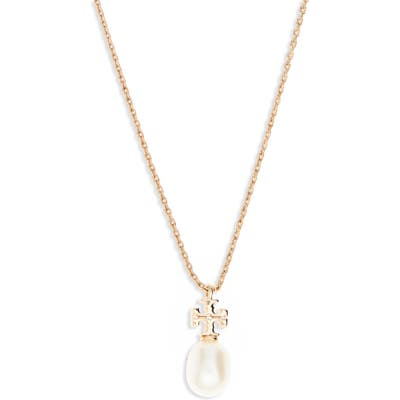 Tory Burch Kira Genuine Pearl Pendant Necklace