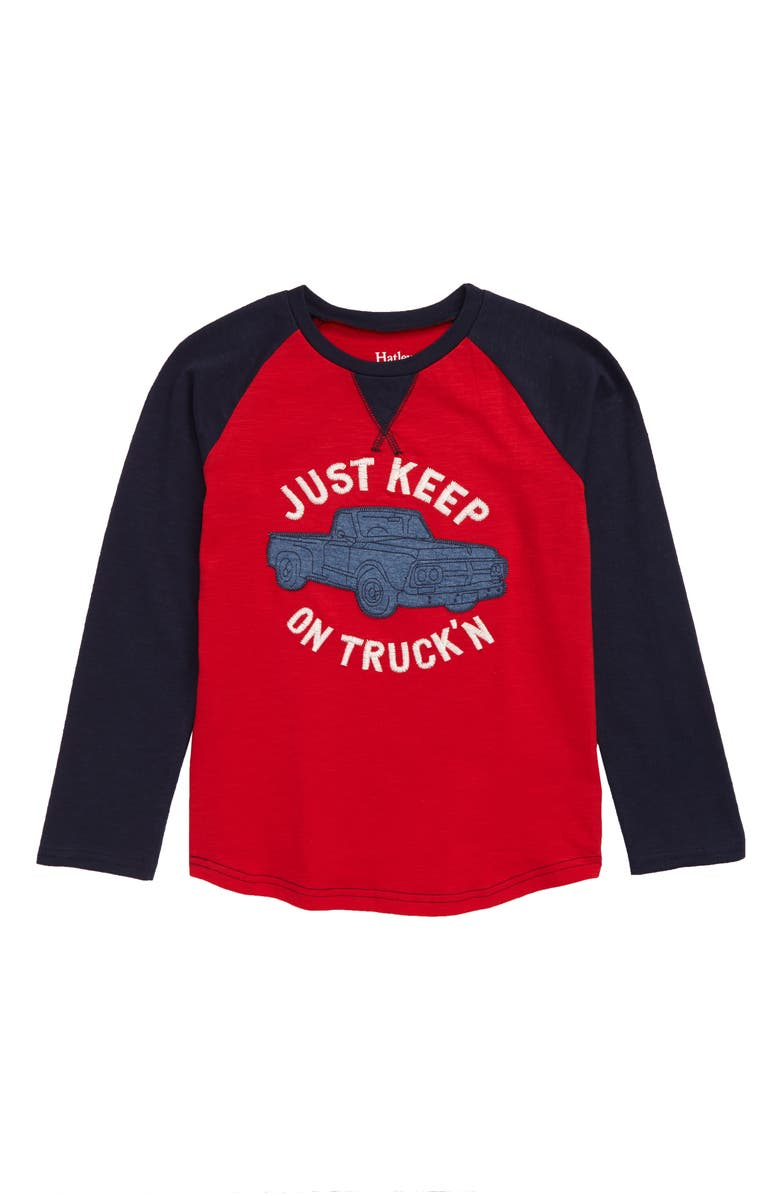 HATLEY Vintage Truck Raglan T-Shirt, Main, color, RED