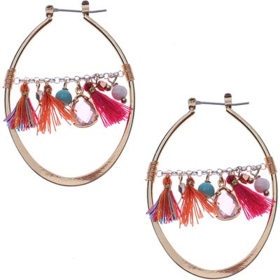 Nakamol Design Fringe Teardrop Earrings