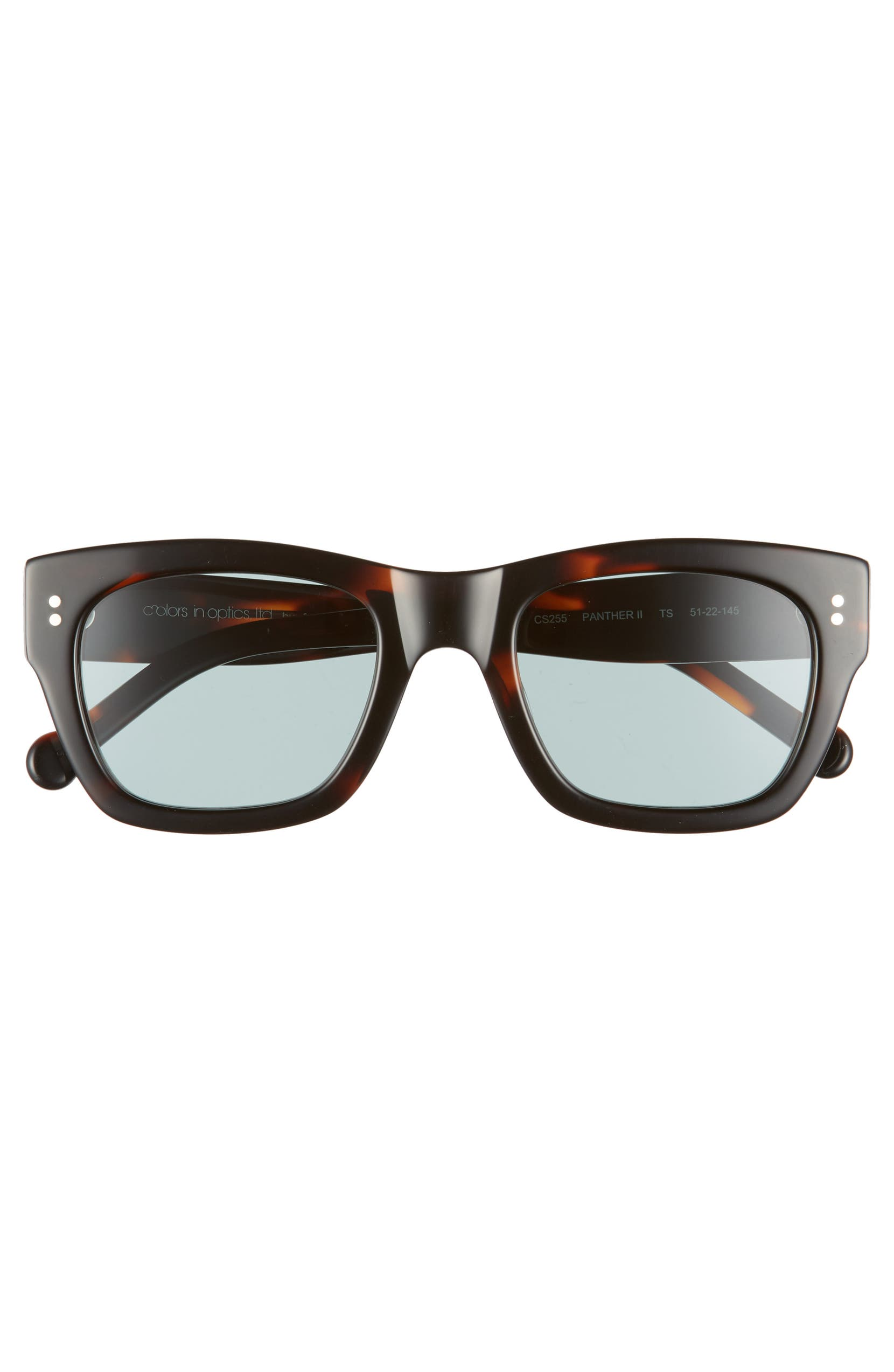 3c73ff8f2 Colors In Optics Panther 51mm Mirrored Rectangular Sunglasses | Nordstrom