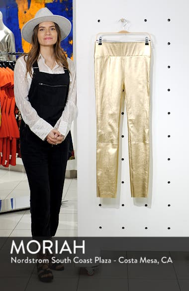 High Waist Leather Ankle Leggings, sales video thumbnail
