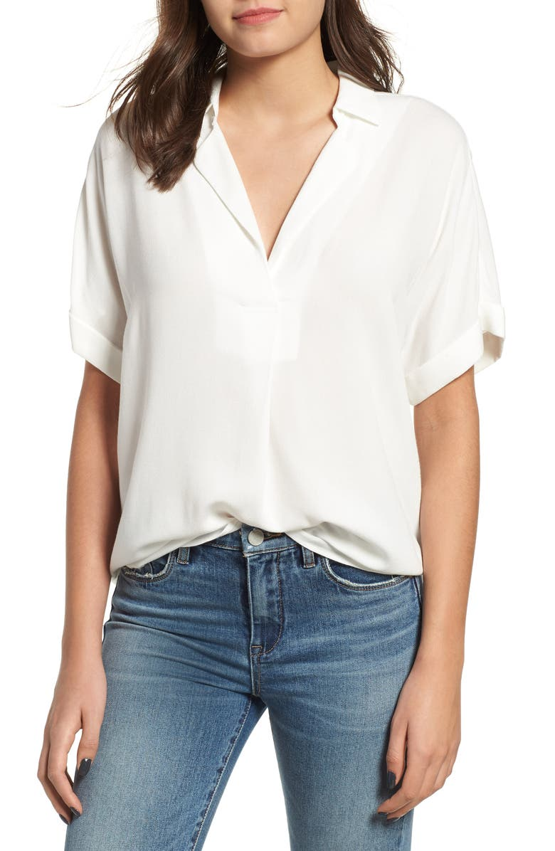 ALL IN FAVOR Button Back Top, Main, color, WHITE