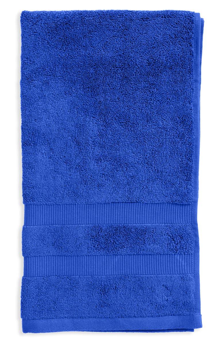 KATE SPADE NEW YORK 'chattam' stripe hand towel, Main, color, BRIGHT CORNFLOWER