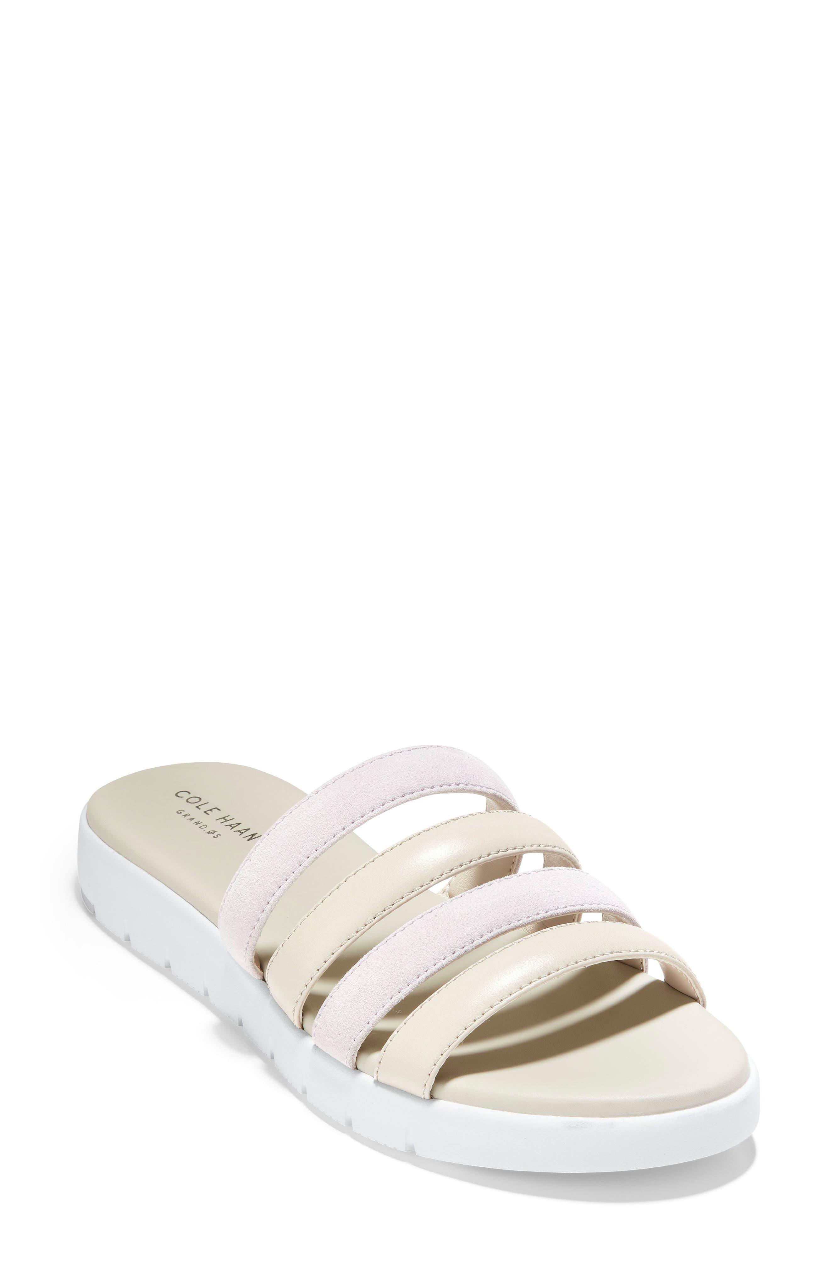 ZeroGrand Sandal, Main, color, VIOLET SUEDE/ STONE LEATHER