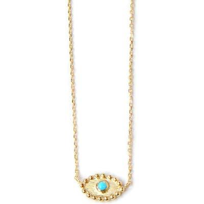 Anzie Dew Drop Turquoise Evil Eye Pendant Necklace