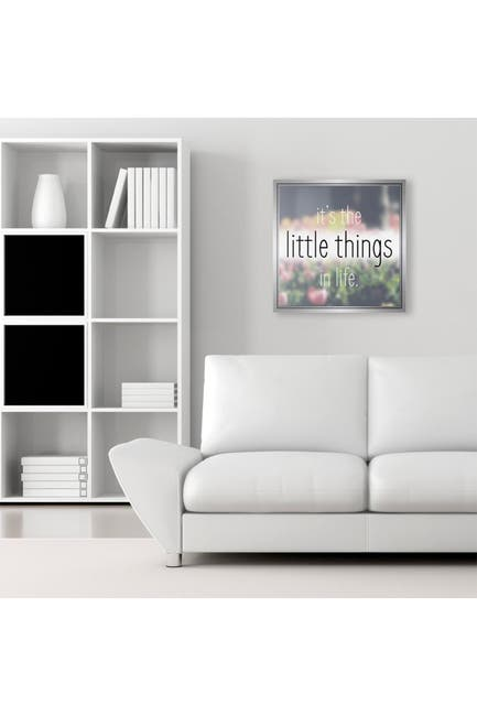 """Image of PTM Images It's The little Things Framed Gallery Wrapped Canvas - 36"""" x 36"""""""