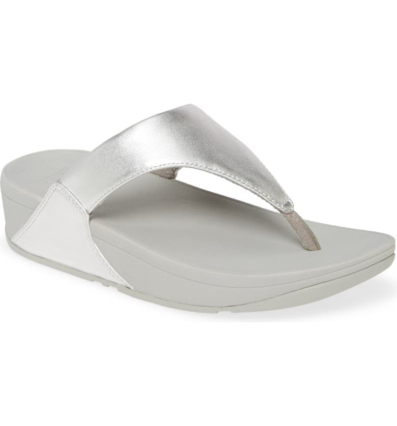 FITFLOP Lulu Flip Flop, Main, color, SILVER LEATHER
