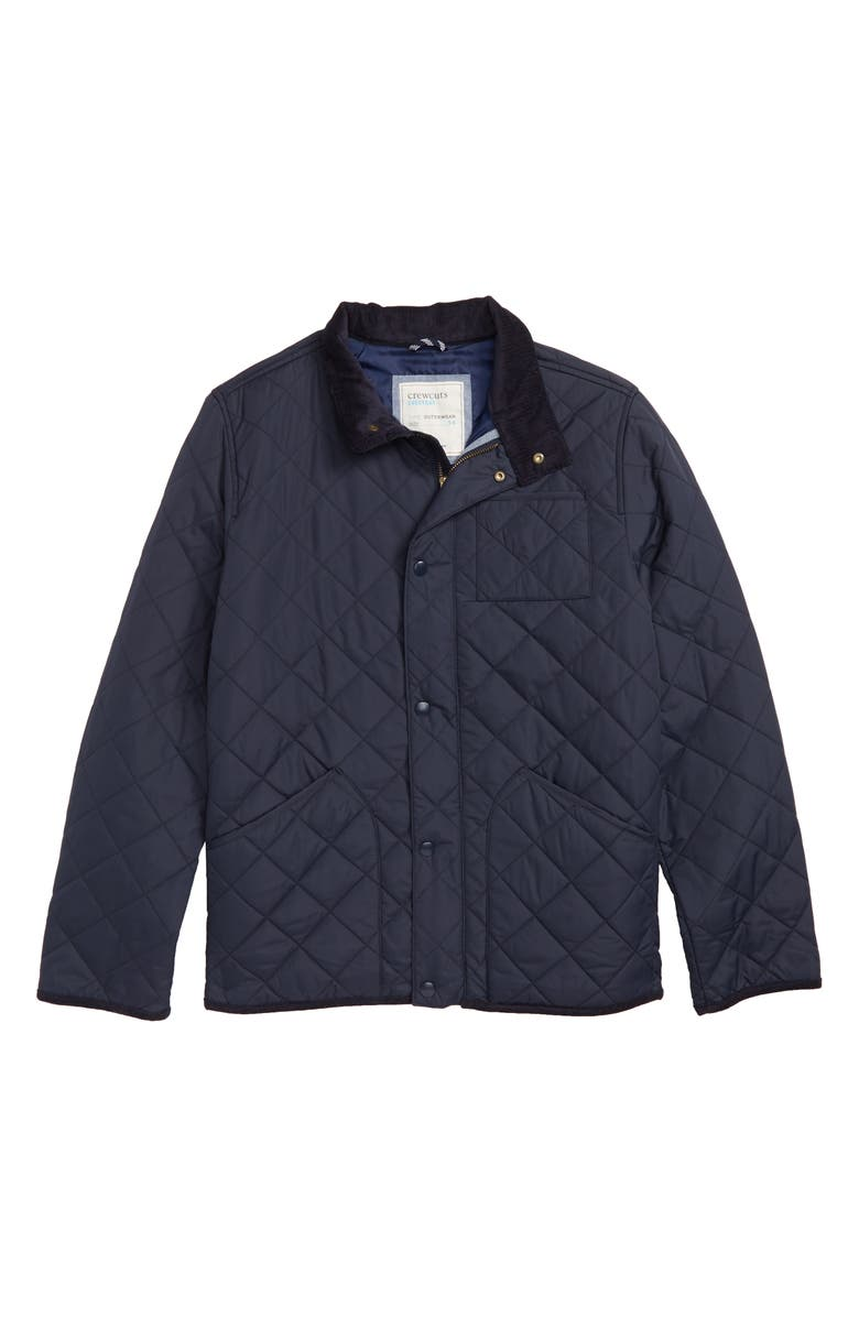 CREWCUTS BY J.CREW Sussex Quilted Jacket, Main, color, 400