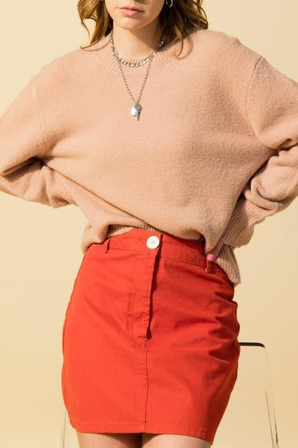 Image of Double Zero Crew Neck Dolman Long Sleeve Sweater