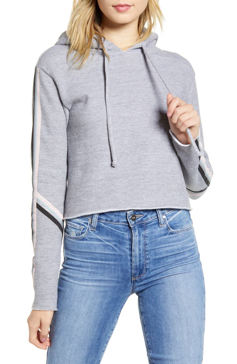 WILDFOX Spectral Track Ivy Hooded Sweatshirt, Main, color, HEATHER
