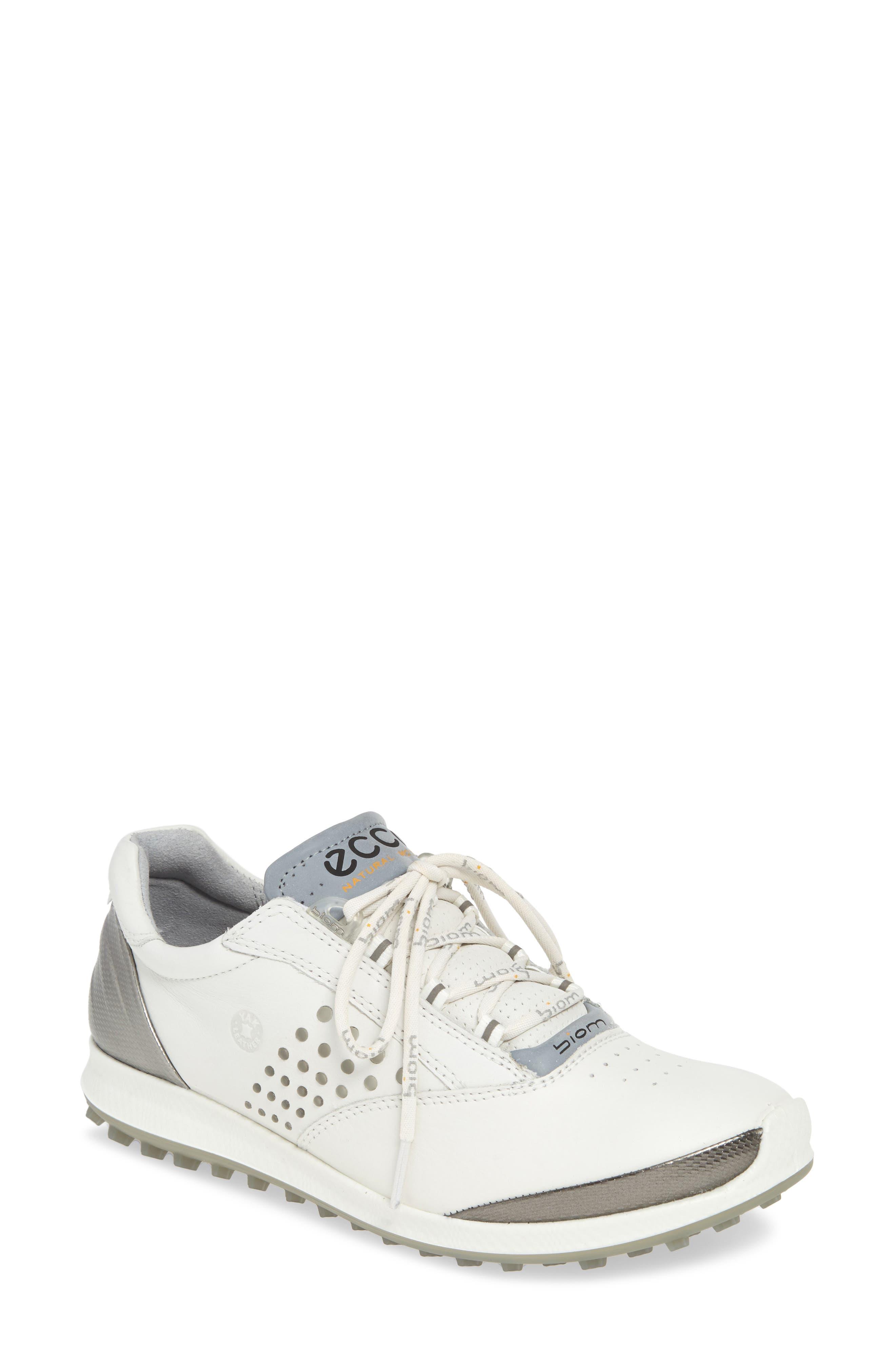 Ecco Biom Hybrid 2 Waterproof Golf Shoe, White