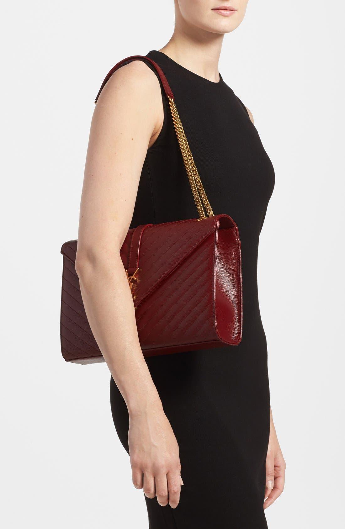 ,                             'Large Monogram' Grained Leather Shoulder Bag,                             Alternate thumbnail 52, color,                             930