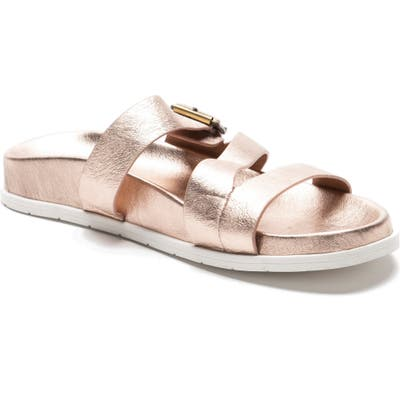 Blondo Selma Waterproof Slide Sandal- Metallic