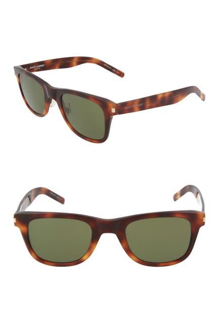 Image of Saint Laurent 50mm Square Sunglasses