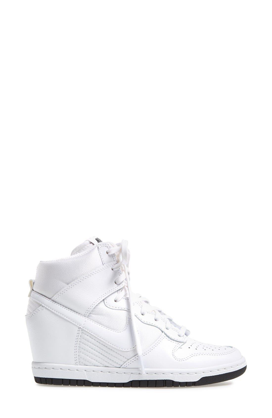 ,                             'Dunk Sky Hi - Essential' Wedge Sneaker,                             Alternate thumbnail 37, color,                             101