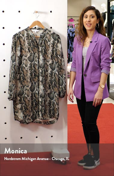 Clara Long Sleeve Snake Print Dress, sales video thumbnail