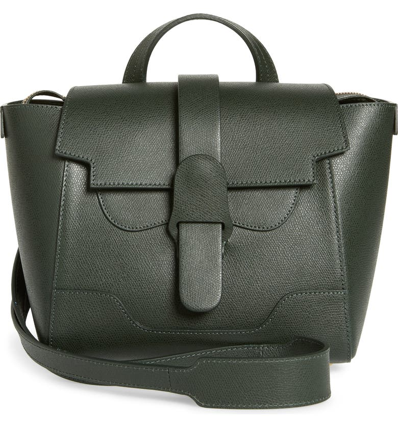 SENREVE Mini Maestra Leather Satchel, Main, color, FOREST