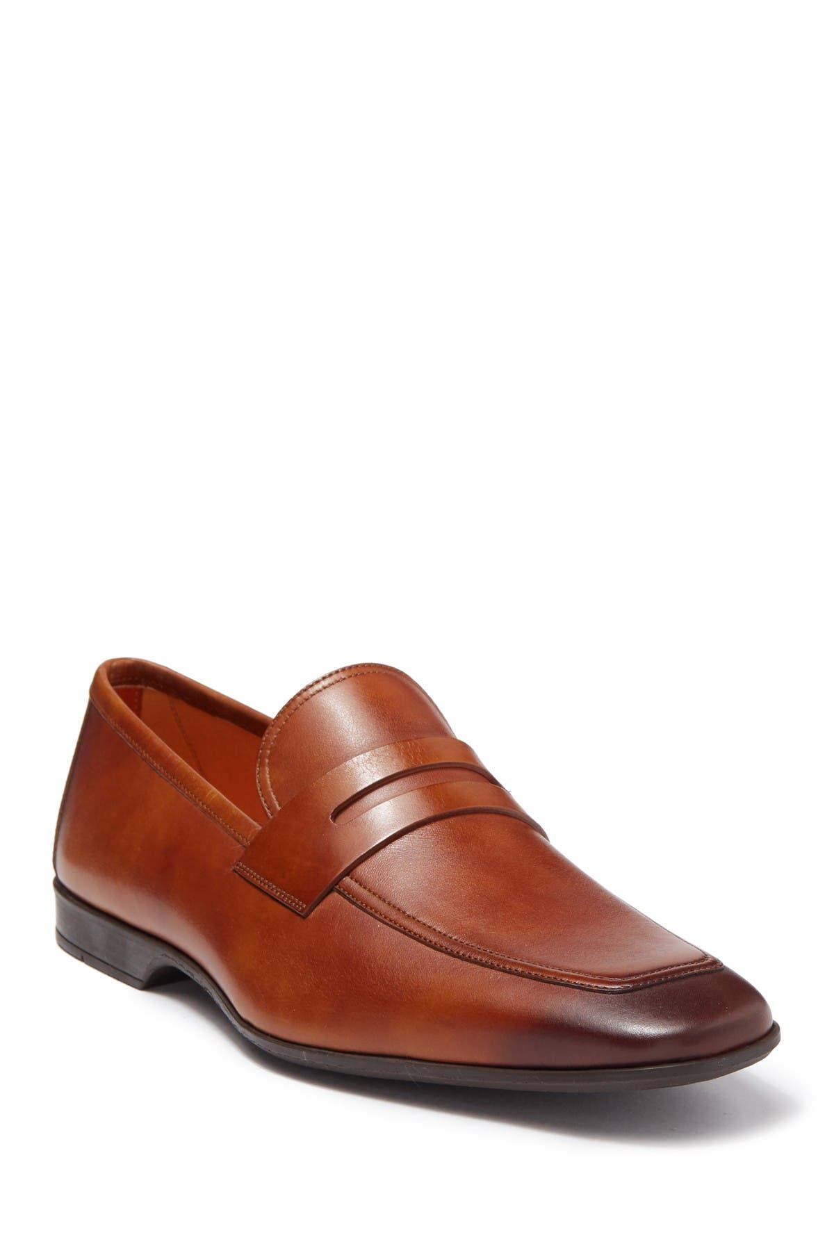 Image of Magnanni Vince Leather Penny Loafer