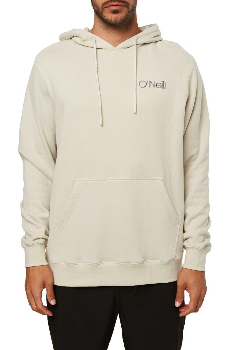 O'NEILL Fifty Two Hooded Sweatshirt, Main, color, LIGHT KHAKI