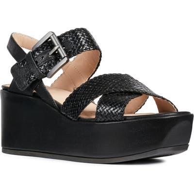 Geox Zerfie Platform Sandal, Black