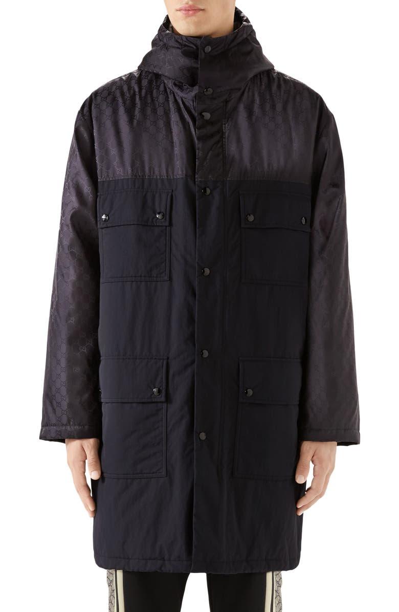 GUCCI GG Jacquard Jacket, Main, color, BLACK MULTICOLOR