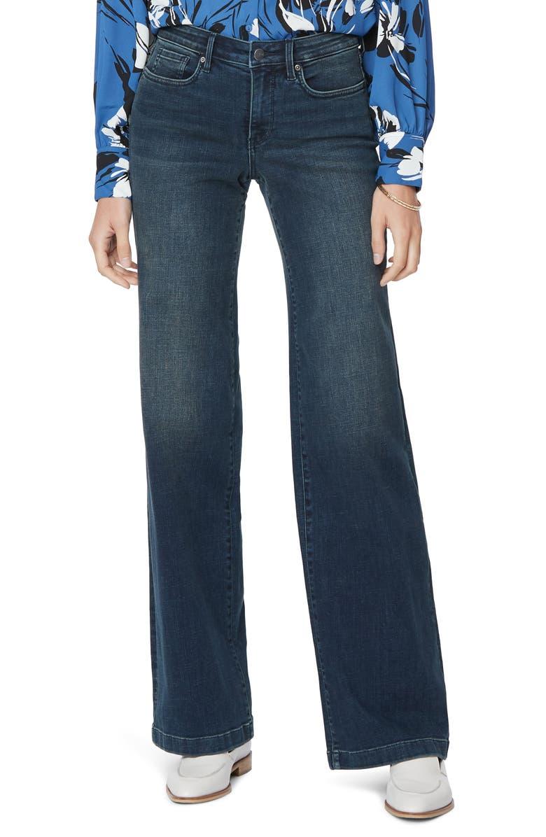 NYDJ Wide Leg Trouser Jeans, Main, color, PROSPERITY