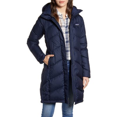 Patagonia Down With It Hooded Down Parka, Blue