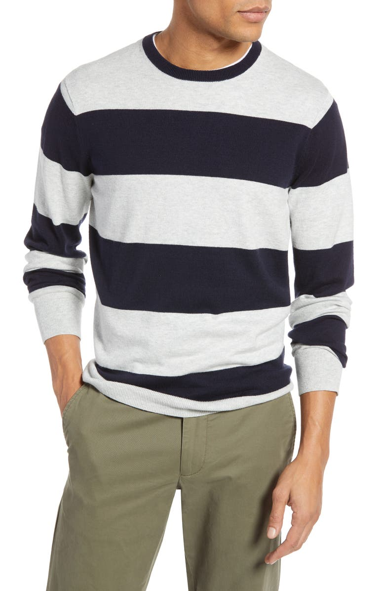 1901 Rugby Stripe Slim Fit Sweater, Main, color, 310