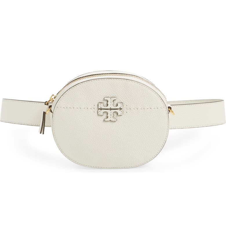 TORY BURCH McGraw Leather Belt/Crossbody Bag, Main, color, NEW IVORY