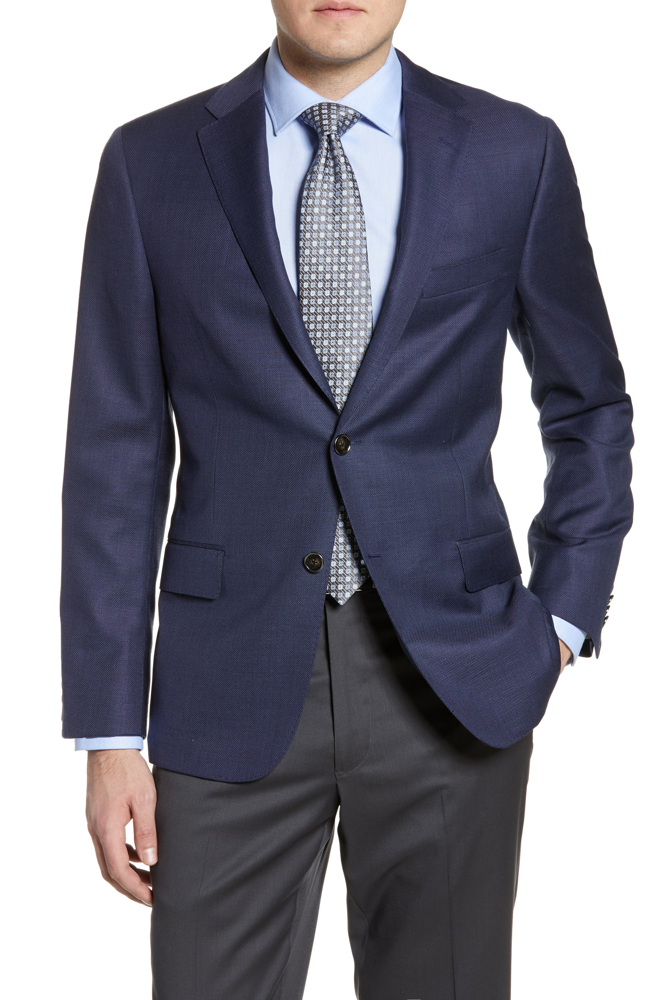 Classic Fit Solid Wool Blazer