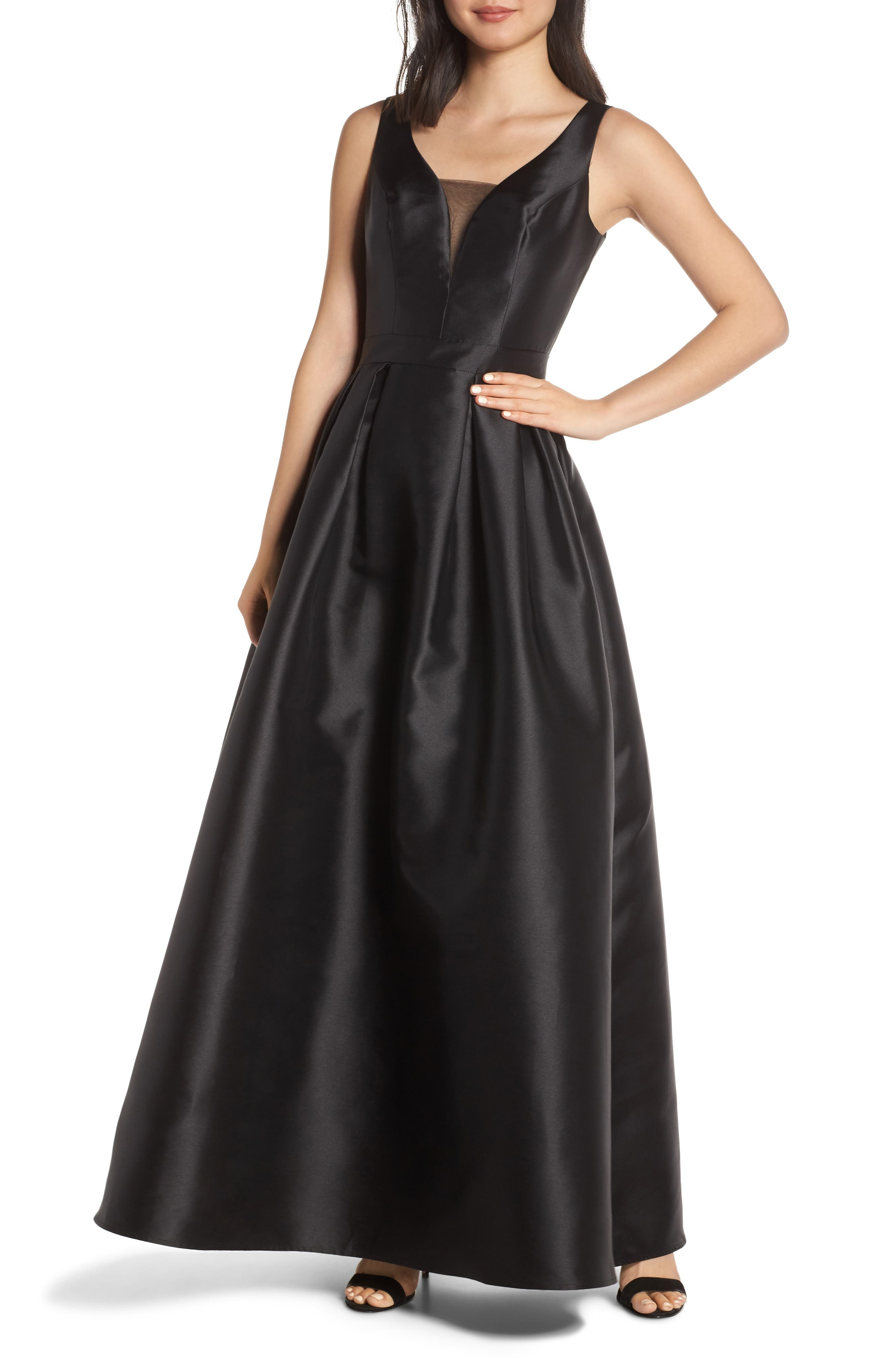 Chi Chi London Rae Back Cutout Evening Dress, Black