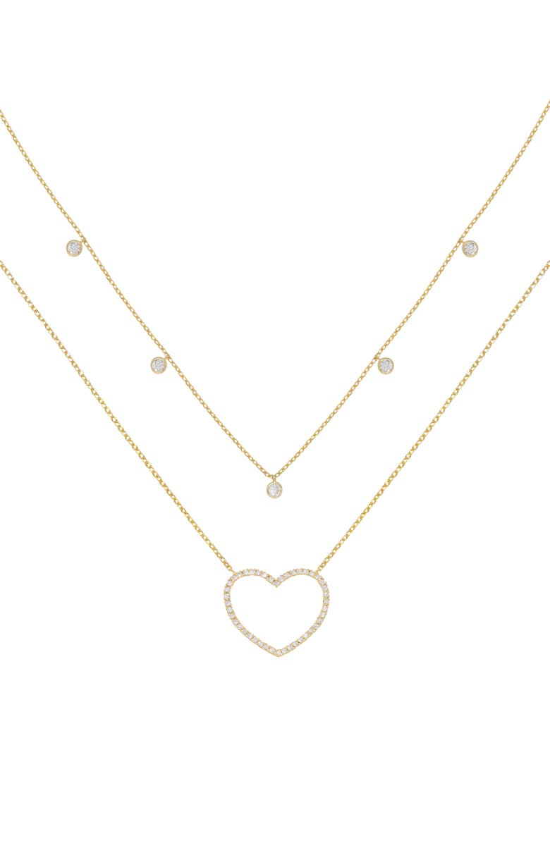 Ettika Dainty Heart Set Of 2 Pendant Necklaces Nordstrom