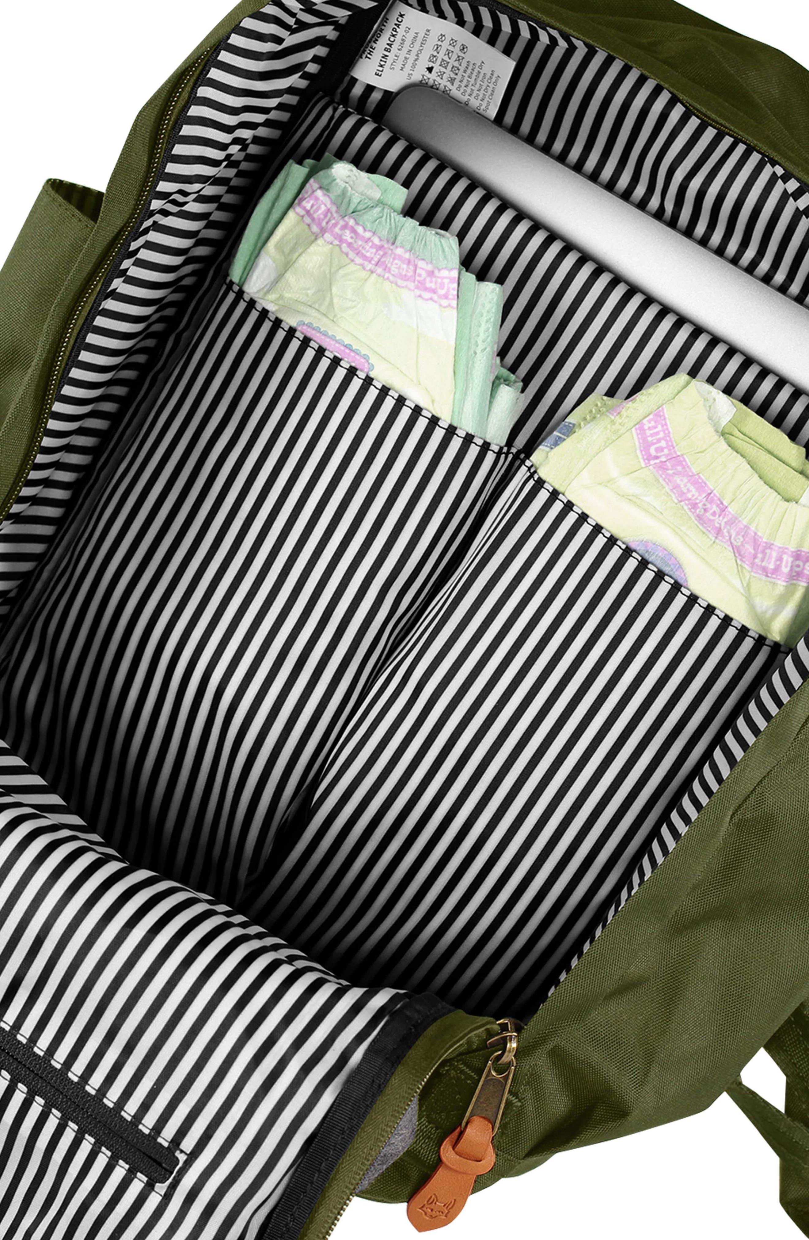 ,                             Elkin Diaper Backpack,                             Alternate thumbnail 4, color,                             OLIVE