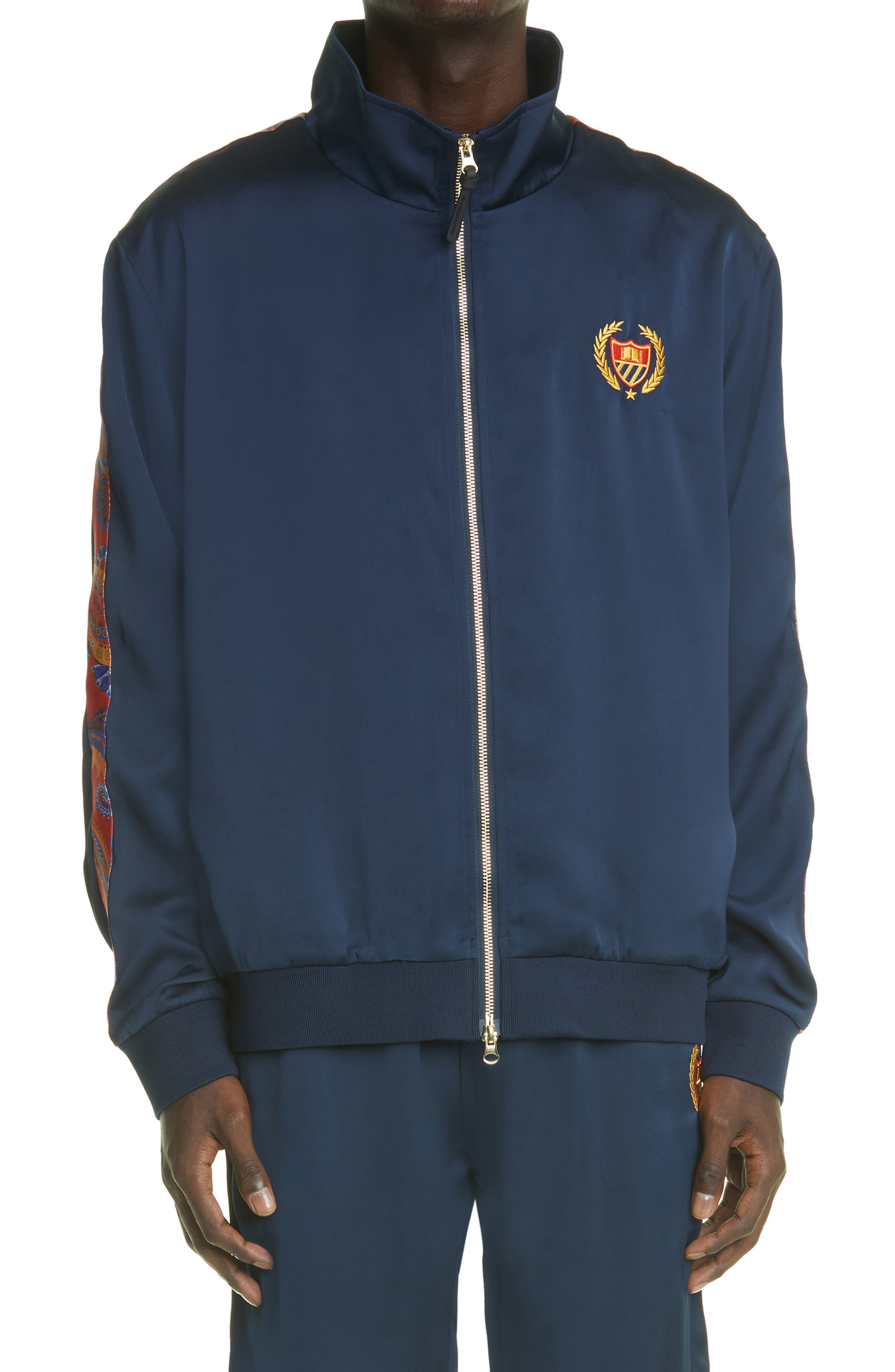 Embroidered Crest Track Jacket