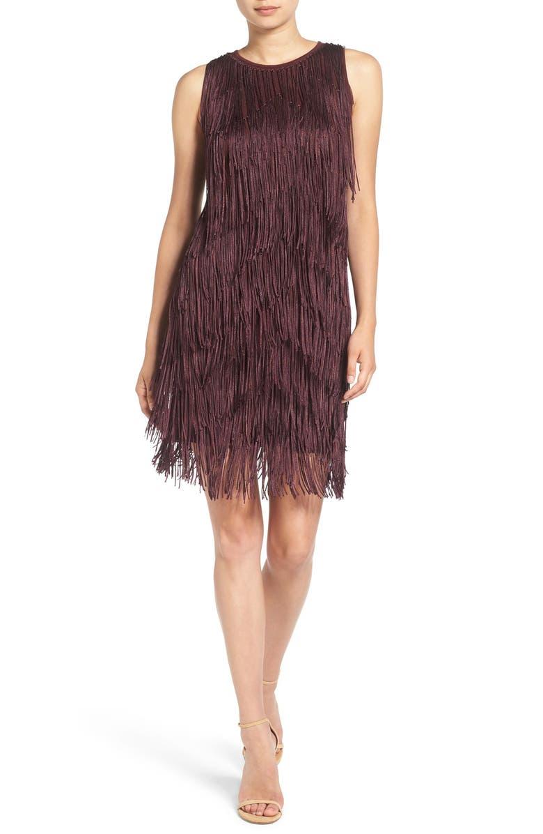 ELLA MOSS 'Ravi' Fringe Minidress, Main, color, 614