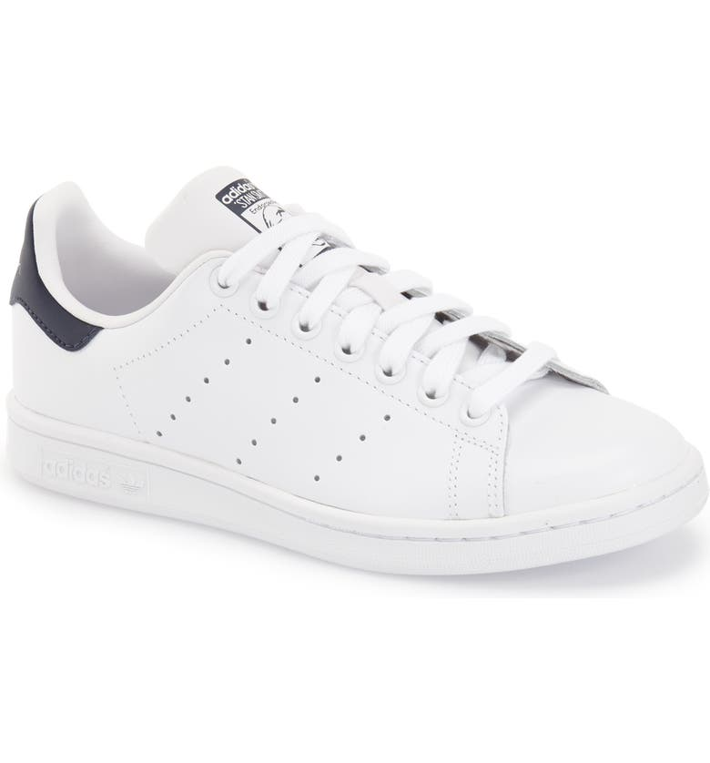 ADIDAS Stan Smith Sneaker, Main, color, WHITE/ NAVY