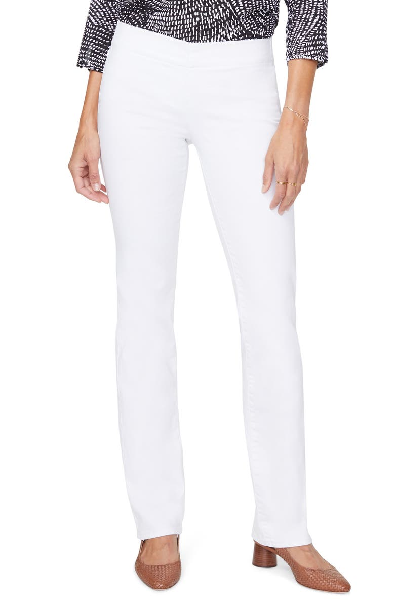 NYDJ Cool Embrace Pull-On Straight Leg Jeans, Main, color, OPTIC WHITE