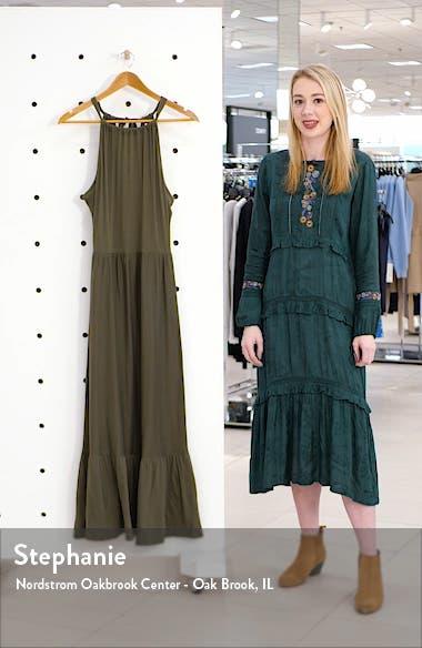 Halter Neck Ruffle Hem Maxi Dress, sales video thumbnail