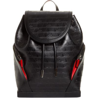 Christian Louboutin Explorafunk Calfskin Leather Backpack - Black
