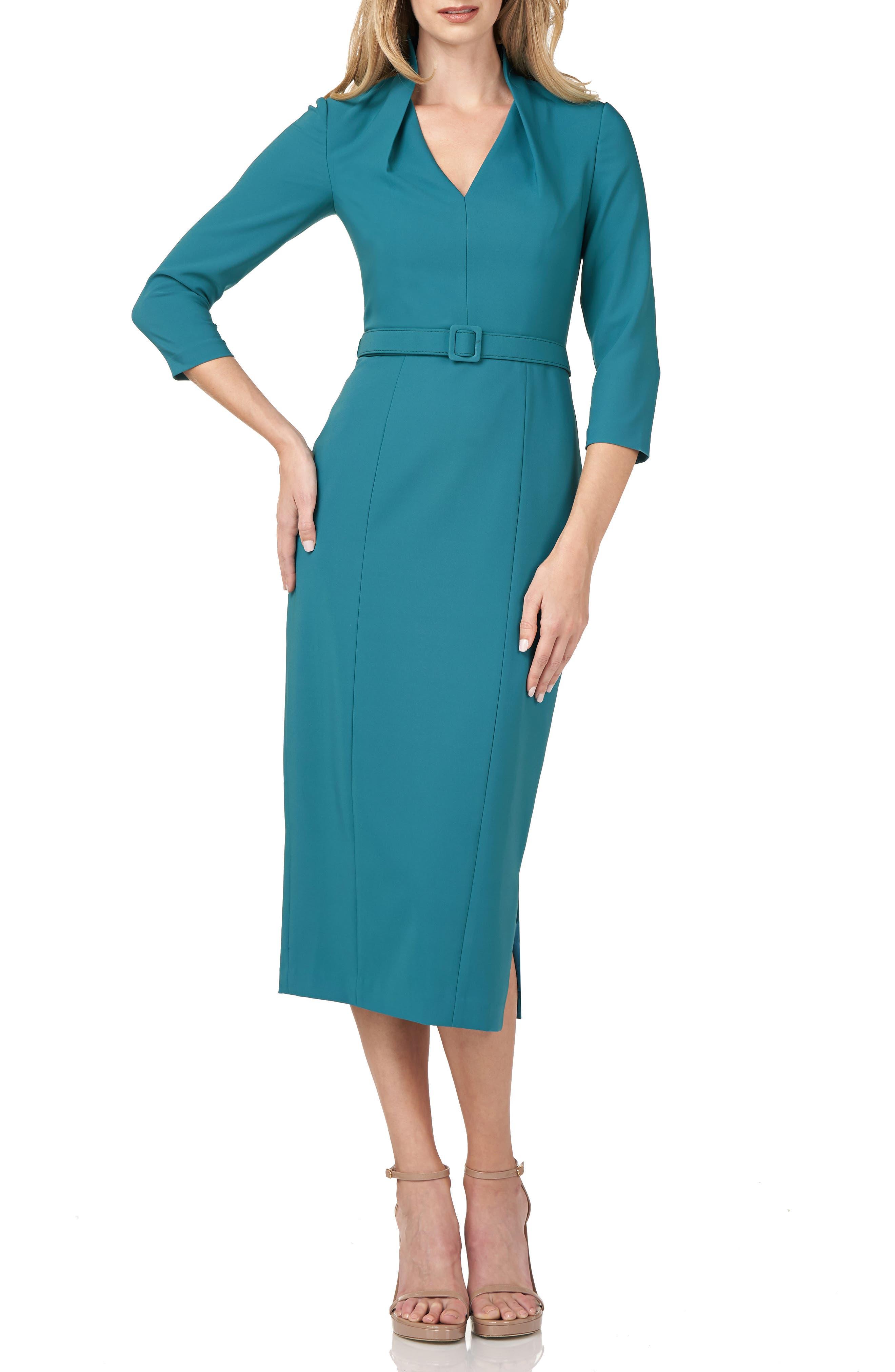 Skylar Crepe Midi Cocktail Dress