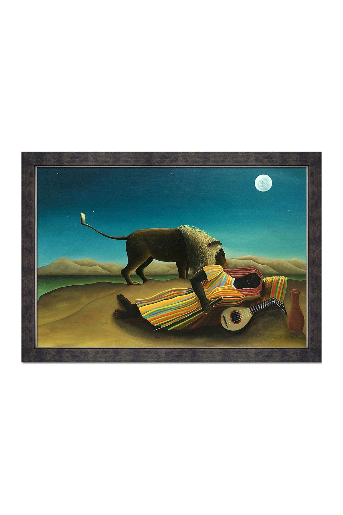 "Image of Overstock Art The Sleeping Gypsy Hand Painted Oil on Canvas - 24"" x 36"""