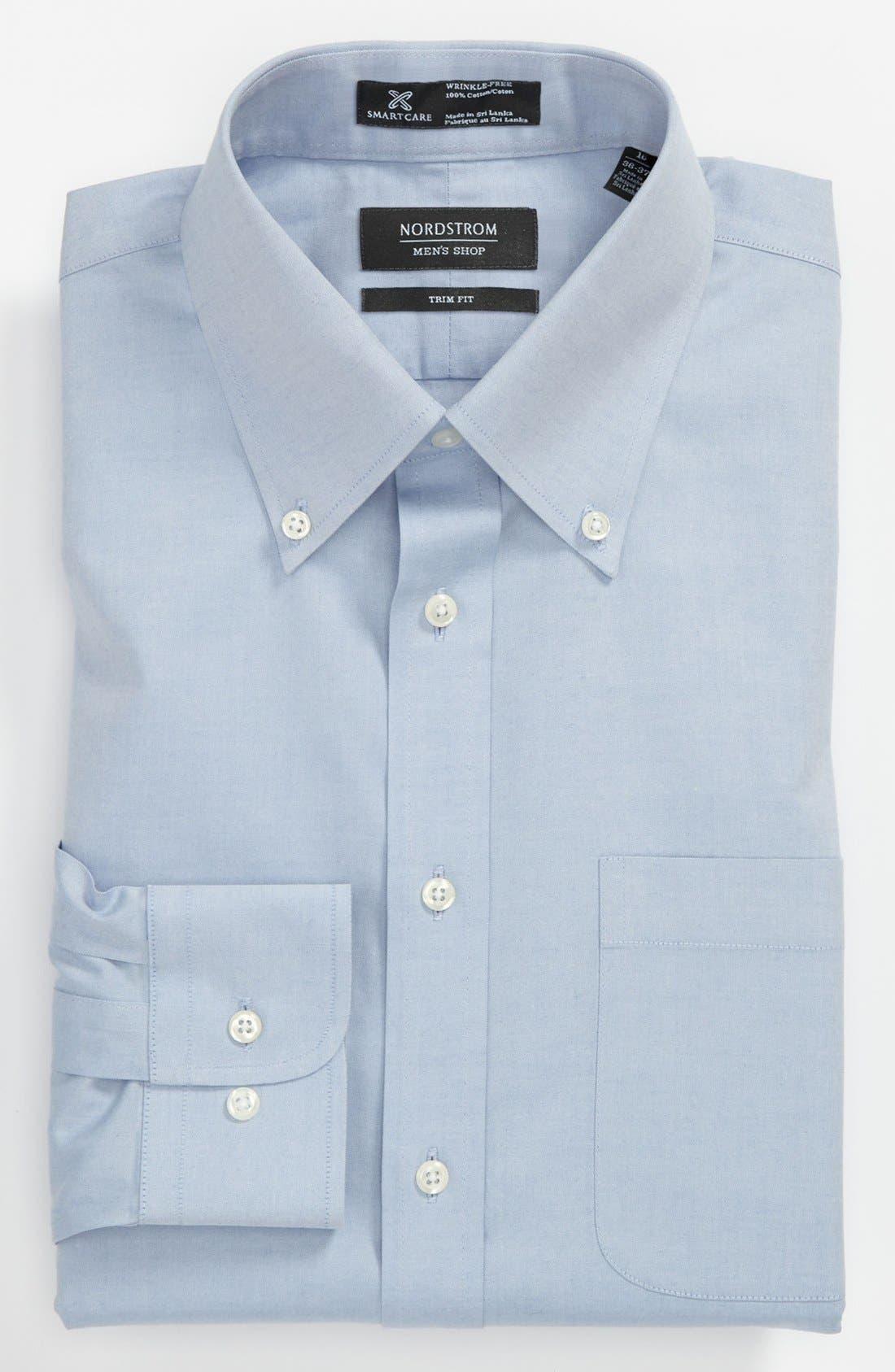 ,                             Smartcare<sup>™</sup> Trim Fit Solid Dress Shirt,                             Main thumbnail 16, color,                             400