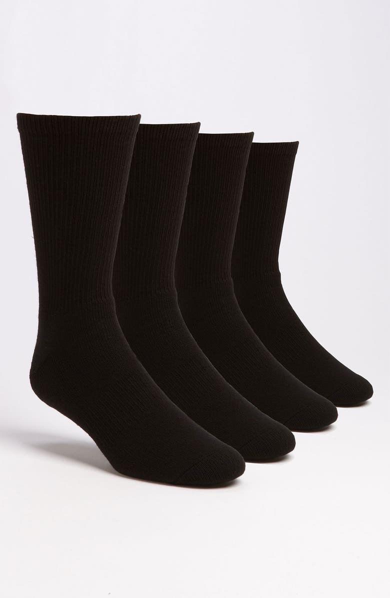 NORDSTROM MEN'S SHOP Crew Socks, Main, color, 001