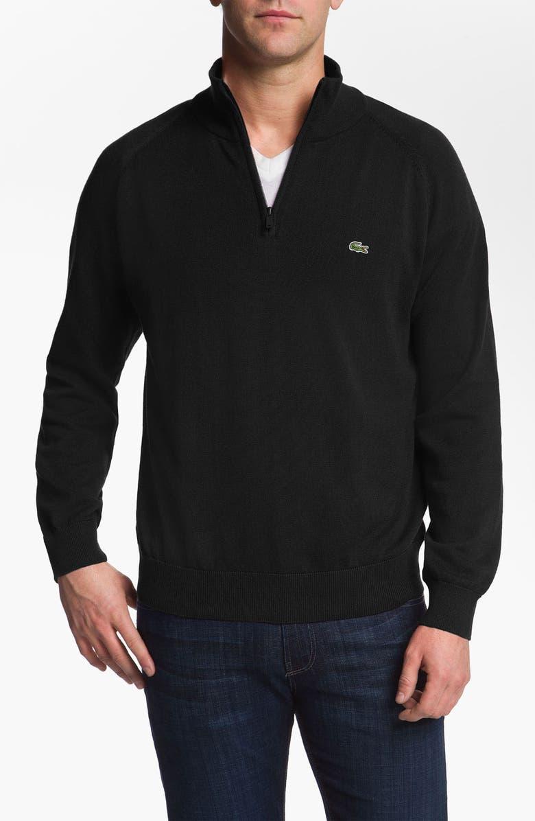 LACOSTE Quarter Zip Regular Fit Sweater, Main, color, 002